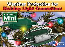 "3 xNew Twist & Seal Mini- Cord & Plug Protector (Weather Resistant) Size 5"" x 2"""