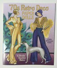 '70s Retro Deco Paper Dolls Chic, trendy London looks by Brenda Mattox