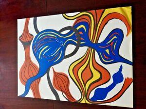 Alexander Calder Le Oignons from the Portfolio Magie Èolienne 1972!