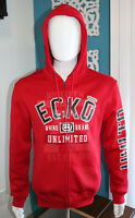 ECKO UNLTD. Full Zip Hoodie Sweatshirt Men's True Red Rhino Style EO38-H14