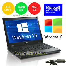 DELL LATITUDE LAPTOP WINDOWS 10 WIN 32bit DVD i5 2.4GHz 3GB 160GB HD NOTEBOOK PC