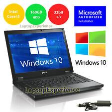 DELL LATITUDE LAPTOP WINDOWS 10 WIN 32bit DVD i5 2.4GHz 3GB 160GB HD NOTEBOOK PC