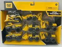 8 Pack CAT Caterpillar Little Machine Toys Bulldozer, Dump Truck, & More