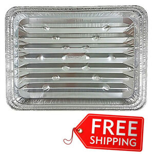 Disposable Cooking Pan Pack of 200 Aluminum Foil Broiler Kitchen Dining Cookware