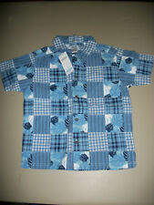 NWT Gymboree~~~Frog Pond~~Patchwork Button S/S Shirt   Size 6     Z2