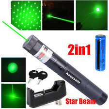 New listing 900Miles Green Laser Pointer Pen Rechargeable 532nm Zoom Star Beam Batt+Charger
