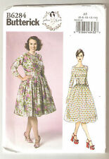 Butterick Sewing Pattern B6284 Miss Retro 50's Styled Dress By Gertie Sz 6-14