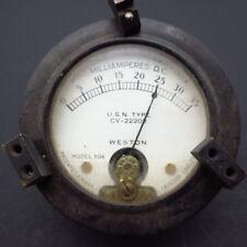 Vintage Weston Electrical Instruments Milliamperes Meter | Model 506 | USA Made