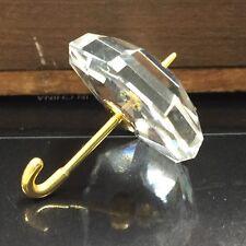 SWAROVSKI Crystal Memories Umbrella Figurine Gold Plated Handle