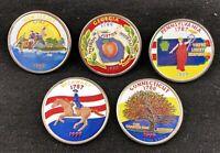 1999 Colorized State Quarters Delaware Pennsylvania 5 Connecticut GA *W1E2