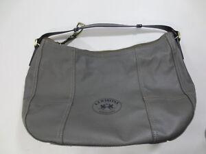 Shoulder bag Shopper Tasche LA MARTINA Schultertasche Kunstleder grau /30