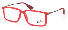 RAY BAN AUTHENTIC MATTE NEON RED EYEGLASSES RX RB 7043 5468 52mm 14mm 140