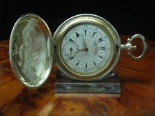 Louis Perret 800 Silber Savonette Osmanische Taschenuhr Schlüsselaufzug