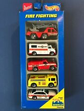 Hot Wheels 1997 Fire Fighting 5pack Fire Chief Ranger Eater Ambulance Flame Stop