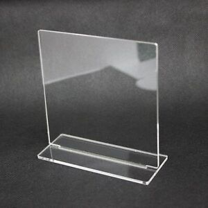 3mm Clear Standing Plaque Blanks, Rectangle Perspex Sign Blank, Large Quantities