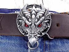 Gürtelschnalle Drachen Domestic Dragon Silver Wechselschnalle für 4cm Buckle