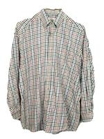 VTG Viyella Plaid L/S Button-Front Shirt Cotton-Wool Blend Size Medium USA
