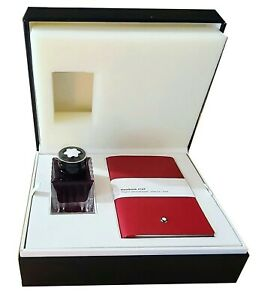 MONTBLANC RARE SET RED INK 50 ml & #147 RED NOTEBOOK BOXED NEW 117597 GERMANY