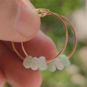 Elegant Natural Jasper eardrop Earrings Ping Buckle 18KGP Lucky Cultured