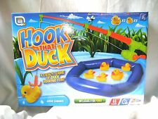 NEW HOOK THAT DUCK GAME FISHING ROD INFLATABLE POND WITH 5 DUCKS GRAFIX GAMESHUB