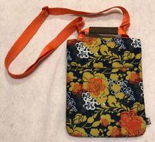 Haiku Crossbody Bag iPad Tablet Sleeve Padded Blue Floral Removable Strap NWOT