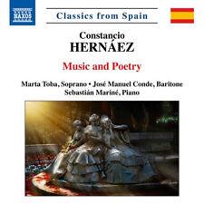 Constancio Hernáez : Hernáez: Music and Poetry CD (2018) ***NEW***
