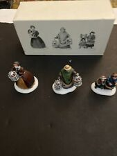 "New Set of 3 Porcelain Accessories ""The Bird Seller"" Heritage Village - Dept 56"