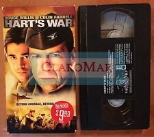 ☀️ Hart's War VHS Movie Bruce Willis Colin Farrell Terence Howard