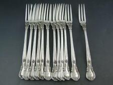"RARE 12 Sterling GORHAM 4 3/4"" Strawberry Forks CHANTILLY 1895 w/ retailers mark"
