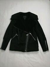 Women's New Look Borg Biker Jacket Size 6