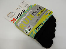 INJINJI TOE SOCKS WOMENS RUN LIGHTWEIGHT MINI CREW FERN SIZE M/L