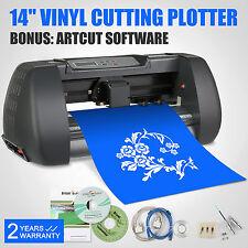 """14"""" Vinyl Cutter Sign Makers Plotter Craft Design Cut Cutting W/ 3 Blade Artcut"""
