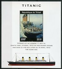 Chad 2018 MNH Titanic 1v M/S Boats Ships Nautical Stamps