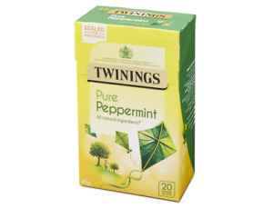 Twinings Pure Peppermint - Packaged Flat - FREE UK P&P - 20 Tea Bags