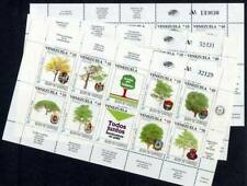 36410) VENEZUELA MNH** Nuovo** 1990 Bank, trees 24v in 3 MS