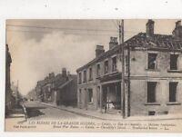 Ruines de Grande Guerre Calais Rue De Chantilly France WW1 Postcard 906a