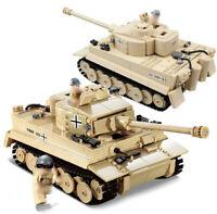 995pcs WW2 PanzerV Tiger Tank Modell mit Army Soldat Figuren Bausteine Spielzeug
