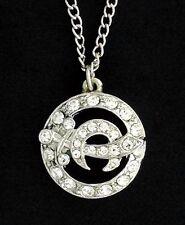 Masonic Ladies Shrine Round Shaped Necklace with Stones (N2926)