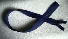 27 inch Navy Blue & Antique Brass Metal #5 YKK Zipper Separating New!