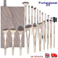 20 Pro Make Up Brush Set Face Eye Lip Nose Makeup Bronzer Powder Blush Blending