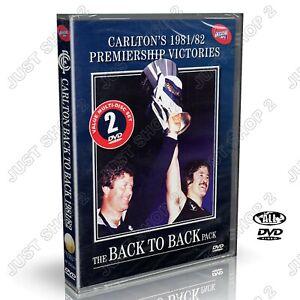 Carlton Premiers 1981 / 1982 : Back To Back : Brand New 2 DVD Set