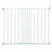 BabyDan MultiDan Wall Mount 24.6-42 Inch Doorway Safety Baby Gate, White Metal