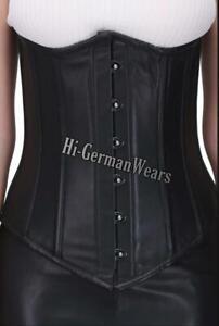 Unterbrustkorsett Schwarz Leder Korsett Taillentraining Underbust Leather corset
