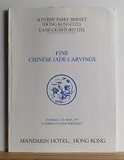 Sotheby's Fine Chinese Jade Carvings Catalog 5/17/1977 HONG KONG Art