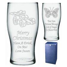 Personalizado Pint Glass tío hermano Sobrino Regalo De Navidad-presente-IMI