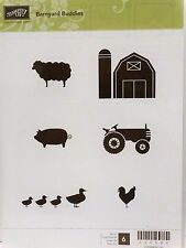 Stampin Up BARNYARD BUDDIES clear mount stamps Farm Tractor Sheep Chicken Ducks