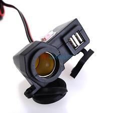 Dual USB Car Cigarette Lighter Socket Splitter 12V Charger Outlet Power Adapter
