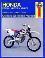 1986-2003 Honda XR250 XR400 XR 250 400 XR400R HAYNES REPAIR MANUAL 2219