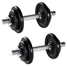 2x 10kg Manubri pesi corti ghisa palestra set fitness bilanciere bicipite kit  n