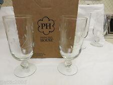 """3601 Princess House Princess Moderna Pedestal Glasses Set/4 New Item 7 1/4""""H NIB"""